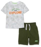 NEW Boys Garanimals 365 Kids Graphic Raglan Hooded Tee Shirt in Blue