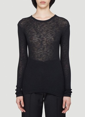 Saint Laurent Sheer Long-Sleeve Top