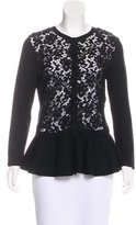 Carolina Herrera Wool Crochet Cardigan