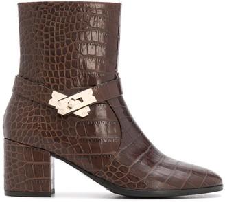 Steffen Schraut Embossed Twist-Lock Ankle Boots
