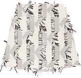Karl Lagerfeld Fringed Piqué Mini Skirt - Off-white