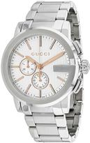 Gucci G-Chrono YA101201 Men's Round Silver Stainless Steel Watch