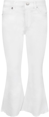 Dondup White amanda Jeans For Girl With Iconic D