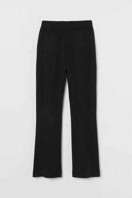H&M Fine-knit silk-blend trousers