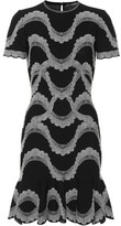 Alexander McQueen Jacquard knit minidress