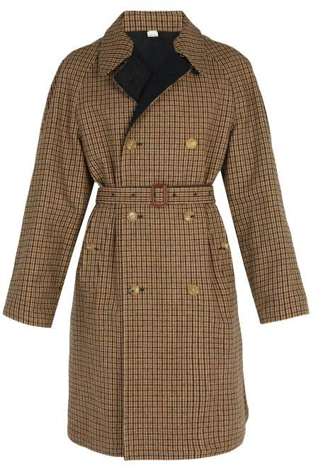 Gucci Reversible Embroidered Wool Trench Coat - Mens - Brown