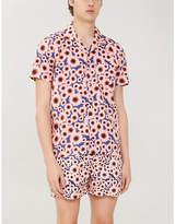 FAR AFIELD Sunflower-print regular-fit cotton-poplin shirt