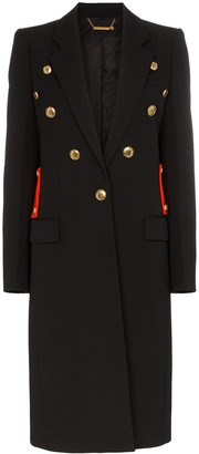 Givenchy Contrast Martingale Button Detail Coat