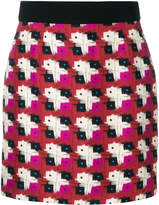Fausto Puglisi fitted patterned skirt