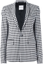 Each X Other check-print blazer - women - Cotton/Polyamide/Spandex/Elastane - S