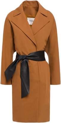 BA&SH August Belted Cotton-blend Crepe Coat