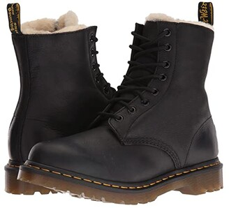 Dr. Martens Serena 8-Eye Boot (Black Burnished Wyoming) Women's Lace-up Boots