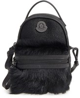Moncler Georgine Genuine Calf Hair & Embossed Leather Trim Crossbody Bag - Black