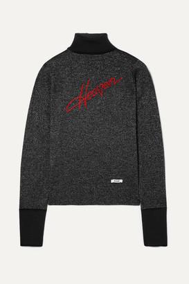 Blouse BLOUSE - Heaven Embroidered Metallic Wool-blend Turtleneck Sweater - Black