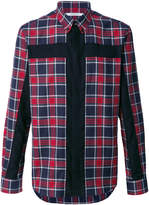 Givenchy crucifix panel checked shirt