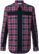 Givenchy crucifix panel checked shirt
