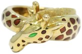 Hermes 18K Yellow Gold With Polychrome Enamel Giraffe Ring Size 5.50