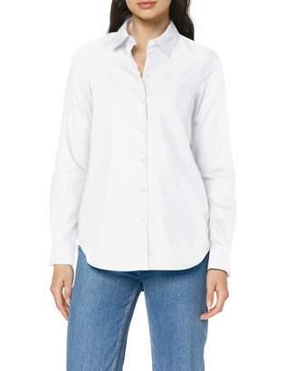 Seidensticker Women's Hemdbluse Langarm Modern Fit Bugelleicht Uni-100% Baumwolle-Brusttasche Blouse