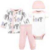 Hudson Baby Baby Girl Preemie Layette Set, 4pc