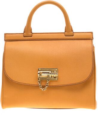 Dolce & Gabbana Mustard Leather Medium Monica Tote