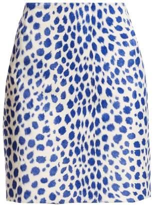 Akris Punto Animal Print Mini Skirt