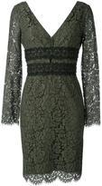 Diane von Furstenberg deep V-neck lace dress - women - Cotton/Polyamide/Polyester/Viscose - 6