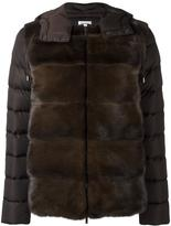 P.A.R.O.S.H. zipped hooded jacket - women - Feather Down/Mink Fur/Polyamide/Polyester - XS