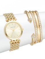 Adrienne Vittadini Glitz Goldtone Bracelet Watch Set/5-Piece