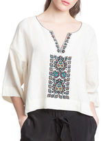 Plenty by Tracy Reese Oversize Embroidered Tee