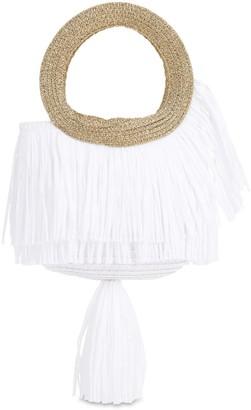 Mi Mi Sol Woven Handbag W/ Fringes