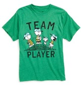Mighty Fine Boy's X Peanuts Team Player Graphic T-Shirt