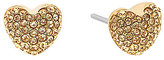 Michael Kors Pav Puffy Heart Stud Earrings