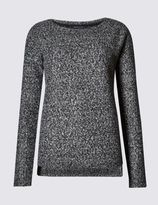 Marks and Spencer Textured Long Sleeve Sweatshirt