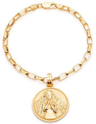 Rachel Jackson London Statement Zodiac Art Coin Virgo Bracelet Gold