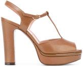 L'Autre Chose iconic t-bar platform sandals - women - Calf Leather/Leather - 36