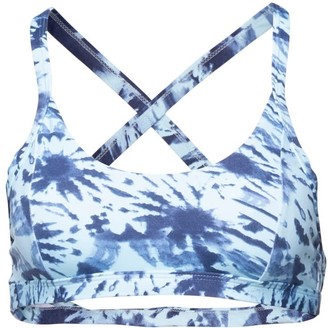 Passion Fruit Beachwear Satya Sports Bra - Blue Tie Dye