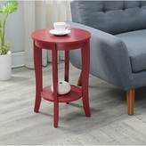 Andover Mills Haines End Table with Storage Table Top Color: Cranberry Red, Table Base Color: Cranberry Red