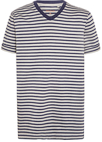 John Lewis Childrens' Stripe T-Shirt, Grey/Navy