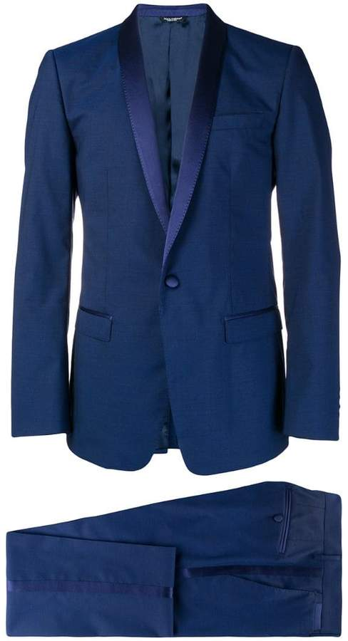 Dolce & Gabbana silk trimmed suit