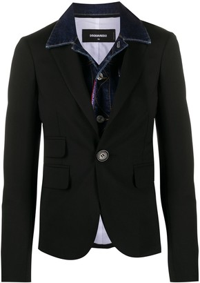 DSQUARED2 Double-Layered Denim Jacket Blazer