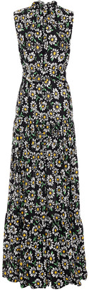 M Missoni Ruffled Floral-print Crepe Maxi Dress