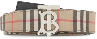 Burberry Reversible Monogram Motif Vintage Check Belt