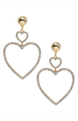 Ettika Crystal Heart Earrings