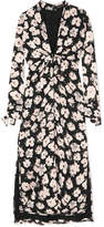 Proenza Schouler Printed Silk-georgette Midi Dress - Black