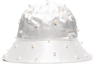 Jennifer Behr Mallorie pearl-embellished bucket hat