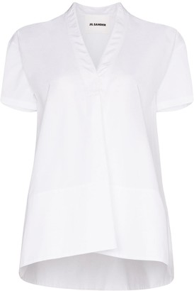 Jil Sander Maria oversized cotton blouse