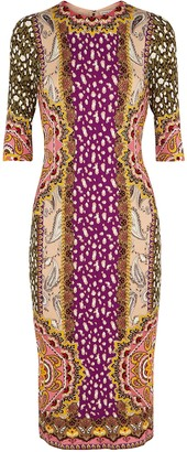 Alice + Olivia Delora printed stretch-jersey dress