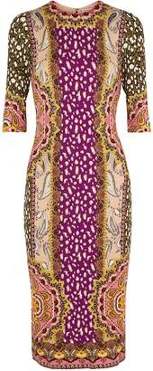 Alice + Olivia Delora printed stretch-jersey midi dress