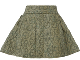 Vivienne Westwood W.W. Miniskirt Quilted Gold Label -Olive Size 8