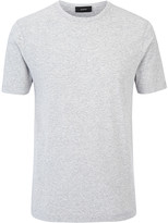 Mercerized Jersey Tee In Grey Chine